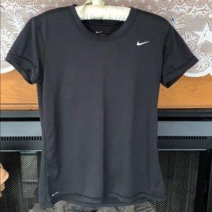 Nike Dri-Fit Short Sleeve Shirt Black Medium